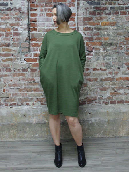 GREEN MINIMAL DRESS, ABLESIA - Kapade Shop