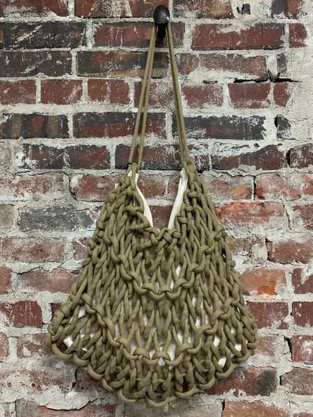 OLIVE ROPE BAG, ALIENINA