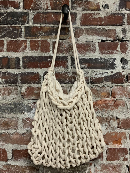 IVORY ROPE BAG, ALIENINA