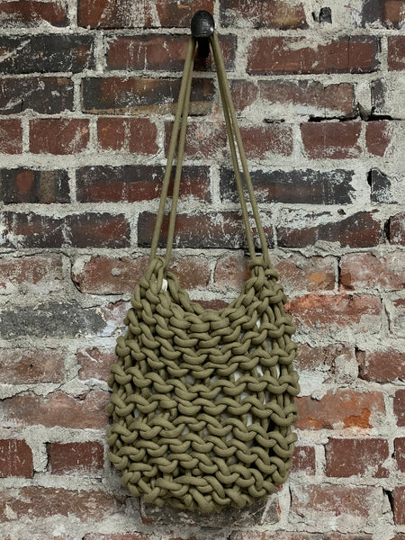 olive oval shape rope bag, ALIENINA