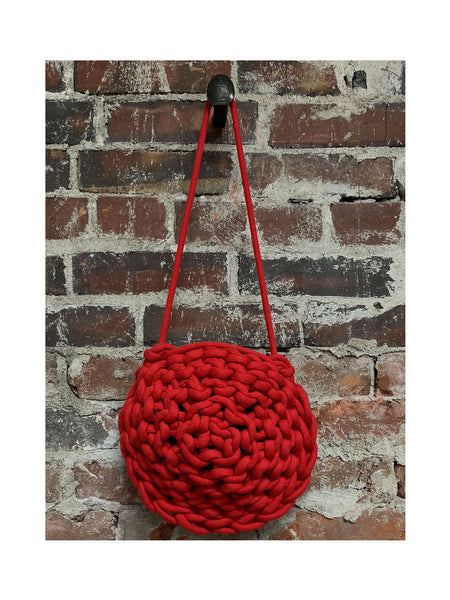 RED round ROPE BAG, ALIENINA