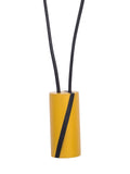 MUSTARD AND BLACK, ART, ROUND NECKLACE, DESIGNS BY SONIA - Kapade Shop