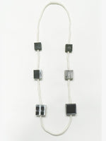 WHITE AND BLACK DISTESSED ART, NECKLACE, DESIGNS BY SONIA