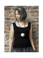 BLACK AND WHITE NECKLACE, DESIGNS BY SONIA