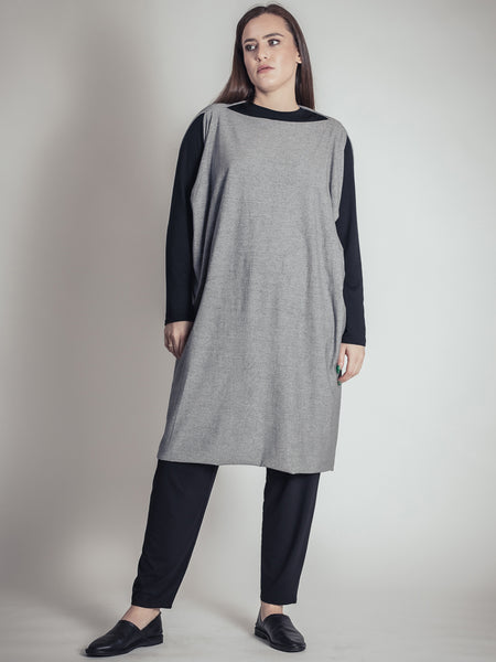 GREY ONE SIZE FITS ALL DRESS, ELEMENTUM