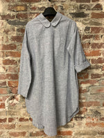 CHAMBRAY REVERSIBLE SHIRT DRESS, ELEMENTUM - Kapade Shop