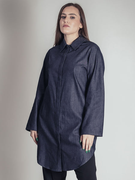 INK DENIM REVERSIBLE DRESS/TUNIC, ELEMENTUM