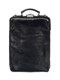 BLACK LEATHER BACKPACK MEDIUM, MUTSAERS - Kapade Shop