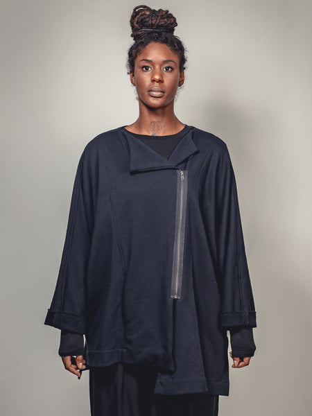 BLACK JACKET ASYMMETRIC, Nrk - Kapade Shop