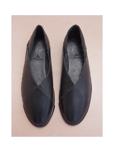 BLACK LEATHER SHOES, PETRUCHA