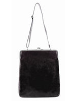 VIRGINIA EXTRA LARGE CLIP BAG, VINTAGE BLACK, VOLKER LANG - Kapade Shop