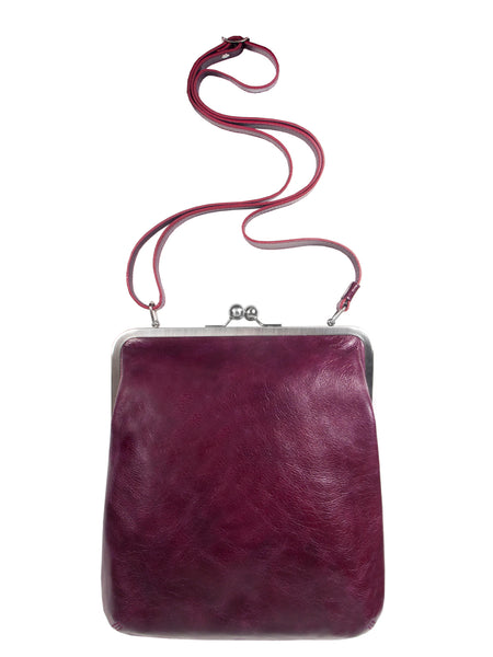 MATA clip bag medium, vintage ruby, Volker Lang