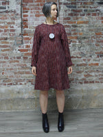 RED, BLACK AND WHITE LAID SHORT DRESS/TUNIC, WORLD OF CROW - Kapade Shop