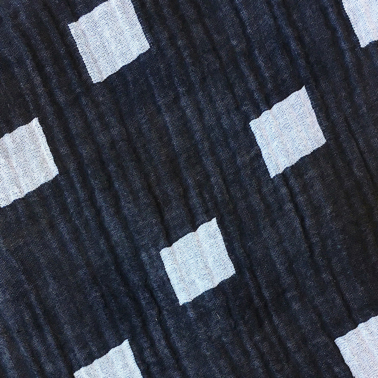 textile swatch of black hopscotch