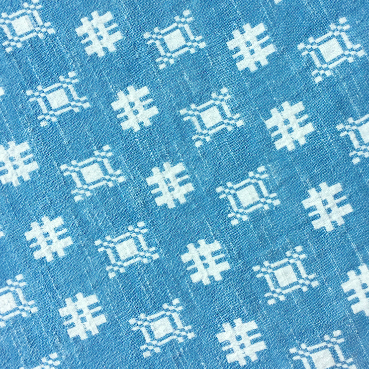 textile swatch of denim mosaic