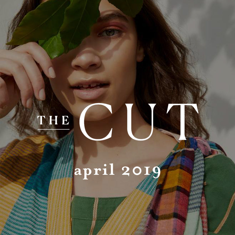 model wearing ace&jig in the cut April 2019