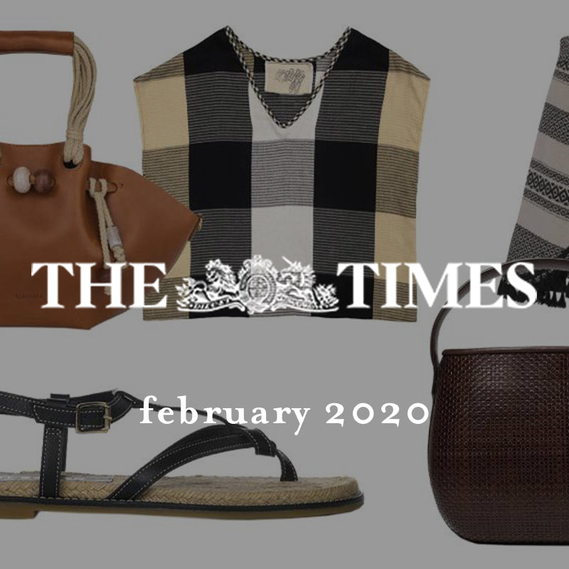 ace&jig featured in the sunday times styles, february 2020