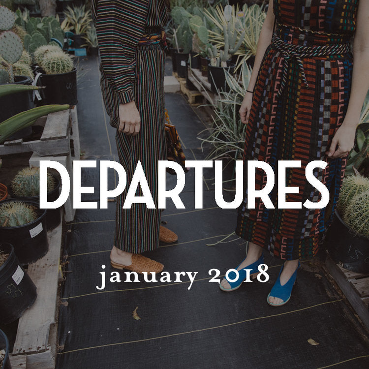 departures, january 2018