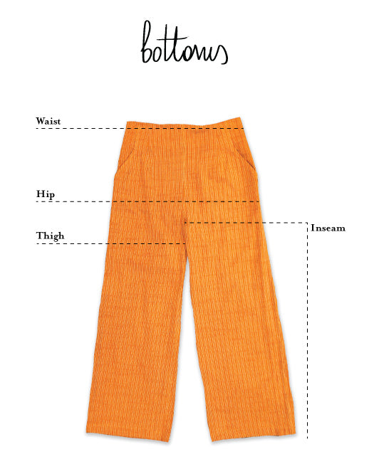flat image of how to measure ace&jig pants