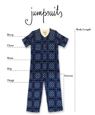 flat image of how to measure ace&jig jumpsuits
