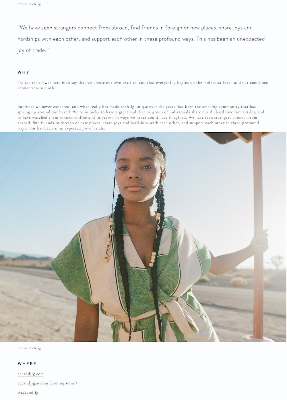 ace&jig featured in seek minimal, april 2019