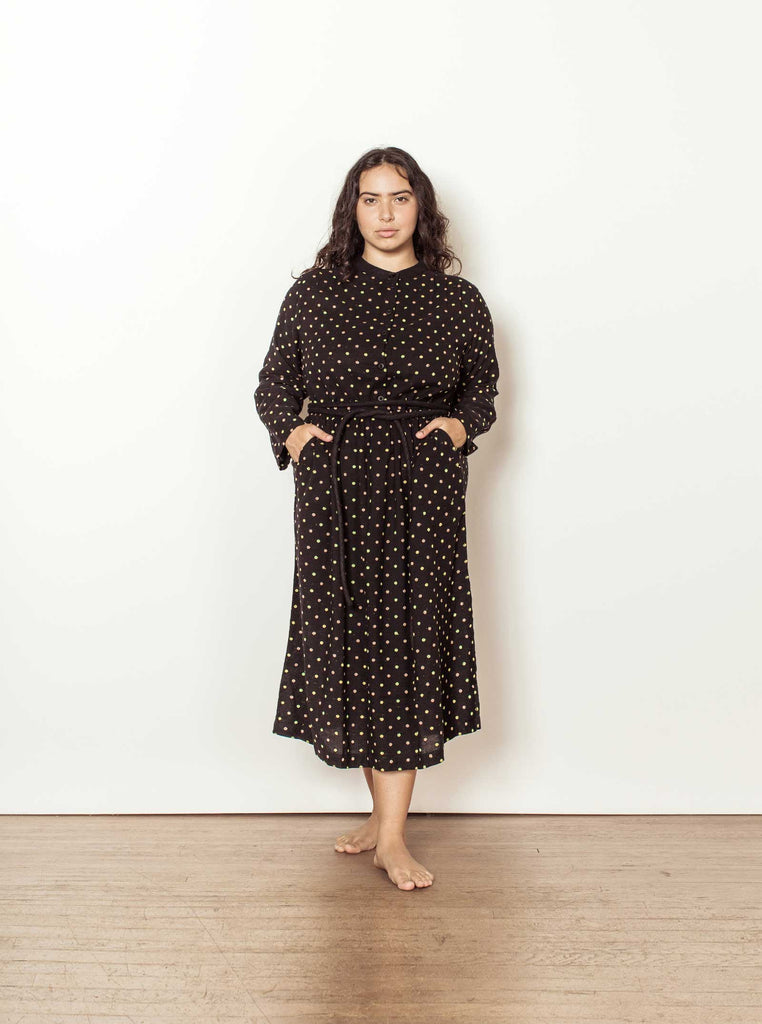 grace dress | fall 20 | XXS-2X - black-dot