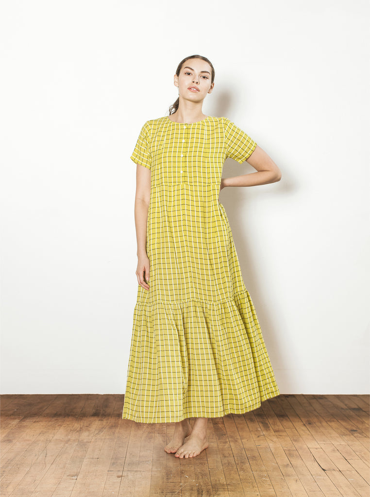 iris dress | summer 20 | XS-XL - chartreuse