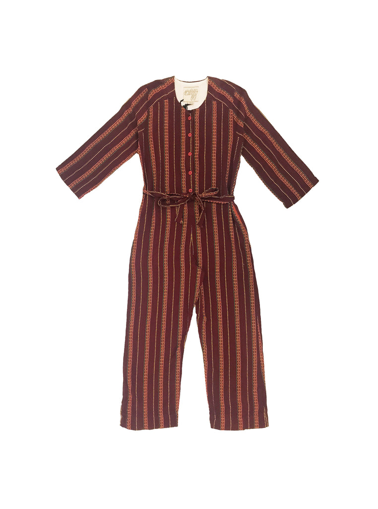 jacob jumpsuit - garnet