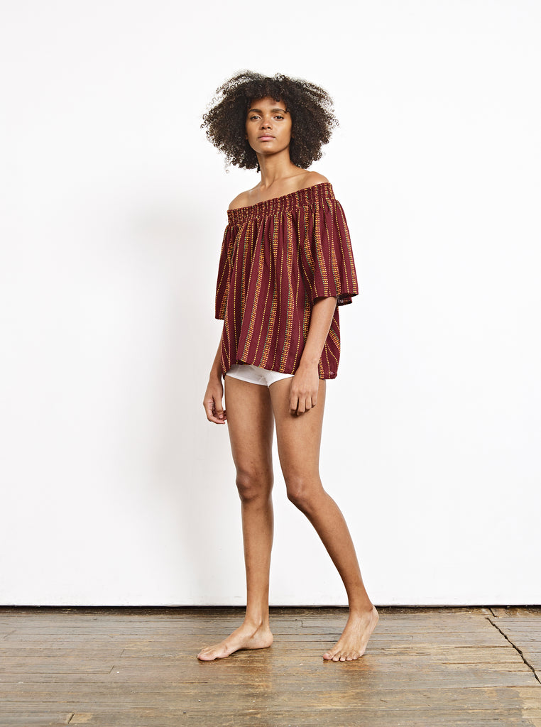 marisol top | additional sizes available - garnet