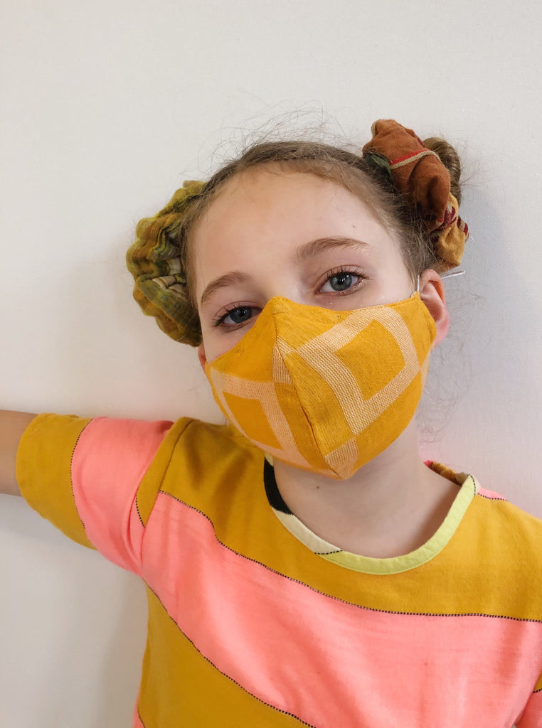 ace&jig textile mask | kid - citrus