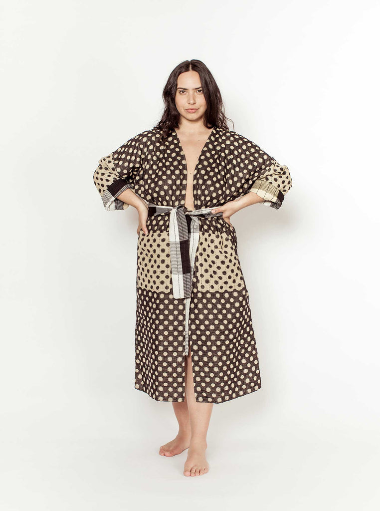 reversible quilted duster | constellation