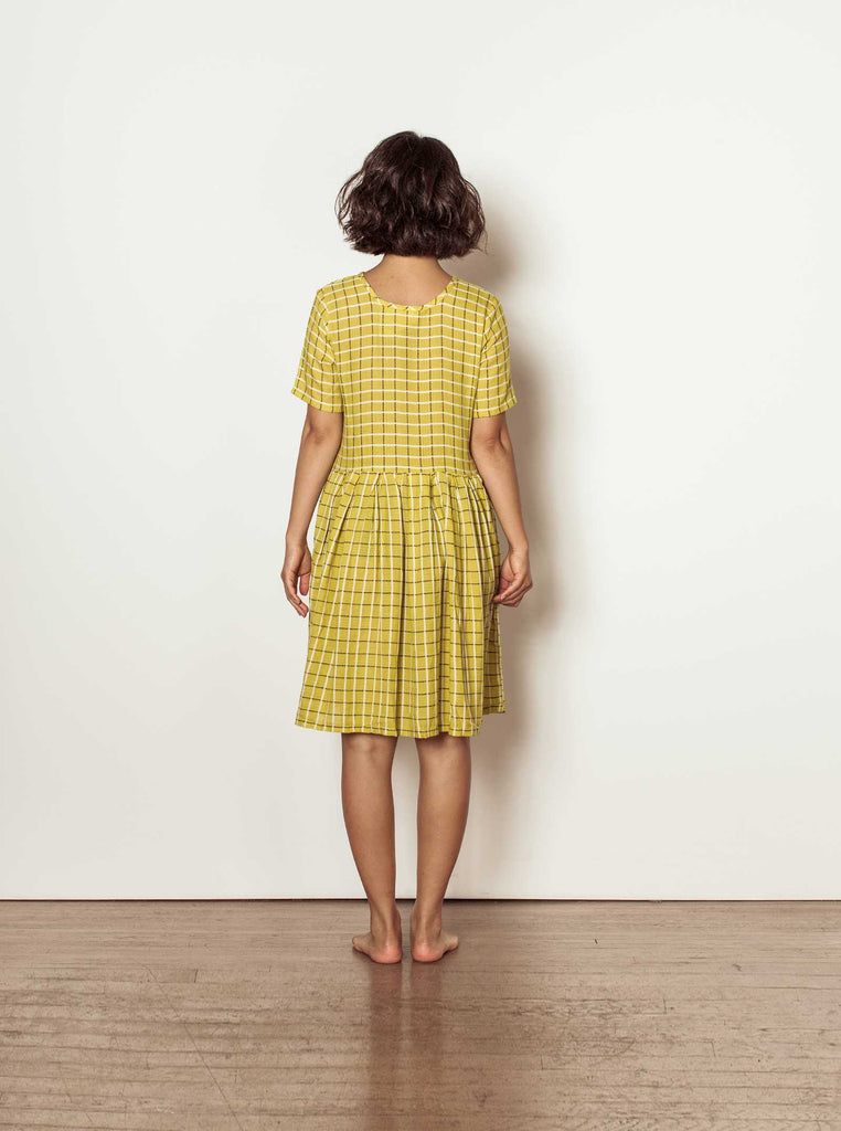 tate dress | summer 20 | XXS-2X - chartreuse