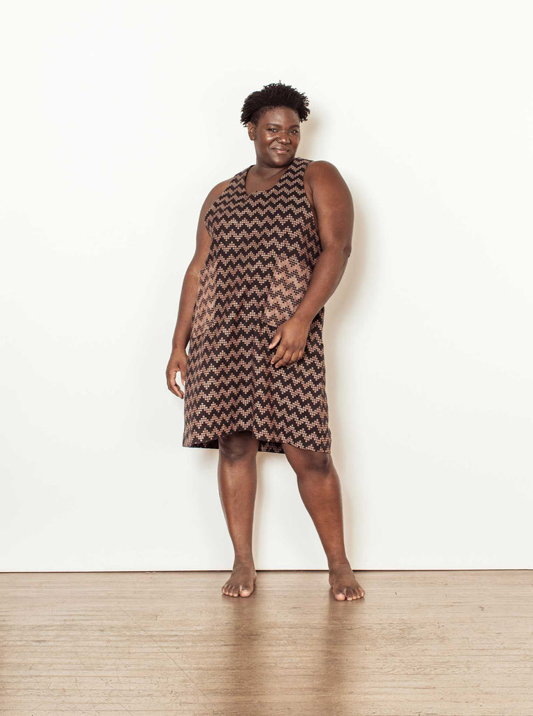 thelma dress | fall 20 | XXS-2X - black-herringbone