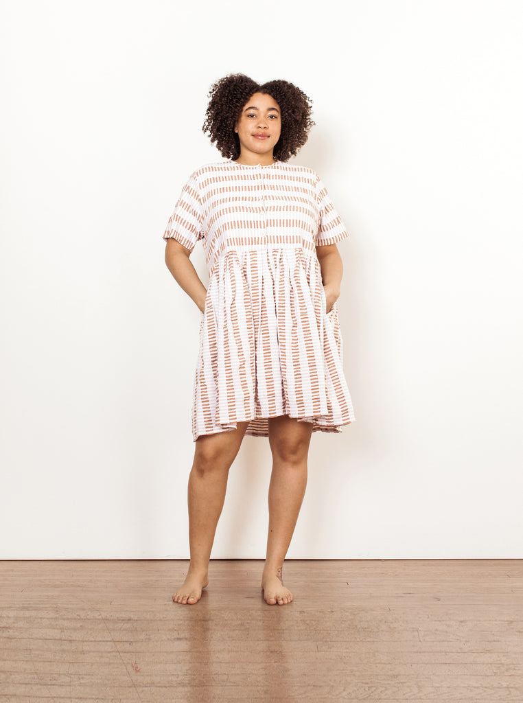 tate dress | summer 20 | XXS-2X - chalk