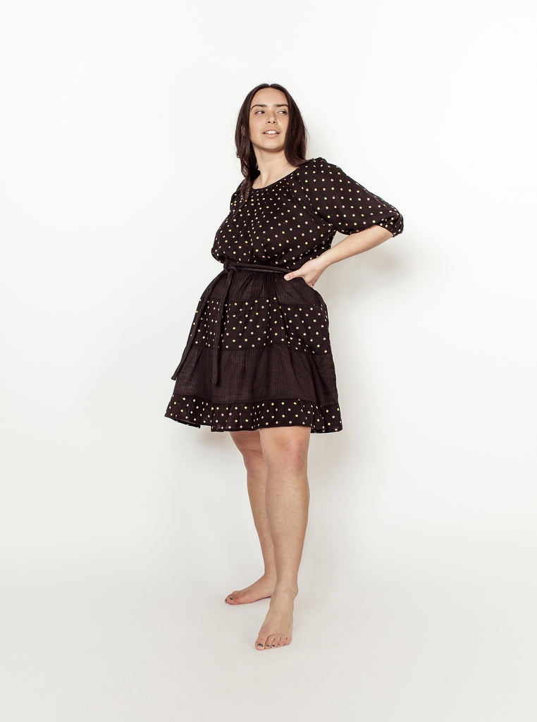 lola dress | fall 20 | XXS-2X - black-dot