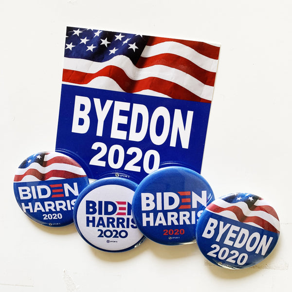 """ByeDon"" Collector Set of 4 pins & 1 magnet"