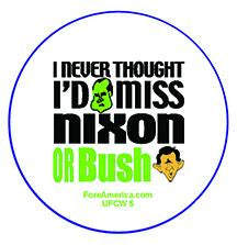 Never Thought I'd Miss Nixon & Bush Pin