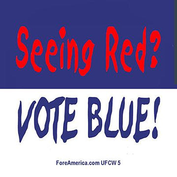 Seeing Red, Vote Blue Magnet