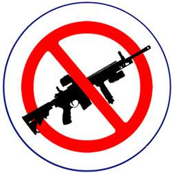 No Assault Rifles Pin