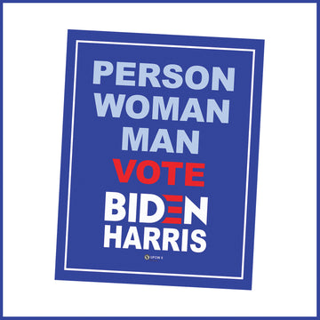 Person, Woman Man Vote Biden-Harris Window Sign