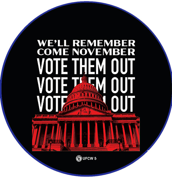 Vote Them Out Pin