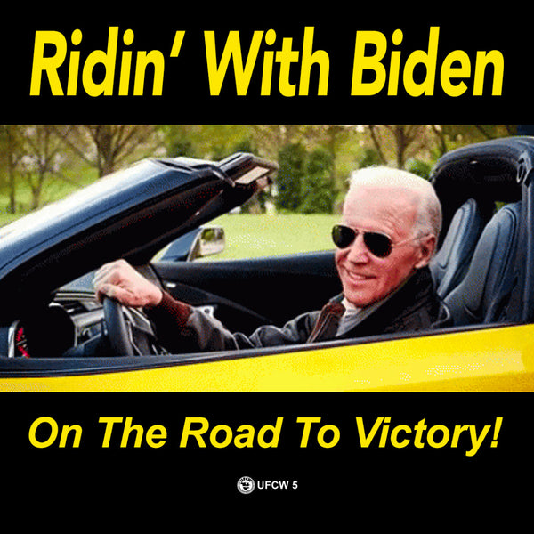 Ridin' With Biden Bumper Sticker