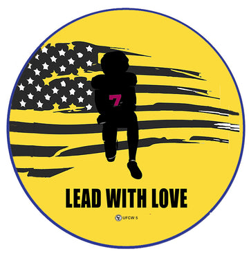 Lead With Love Pin