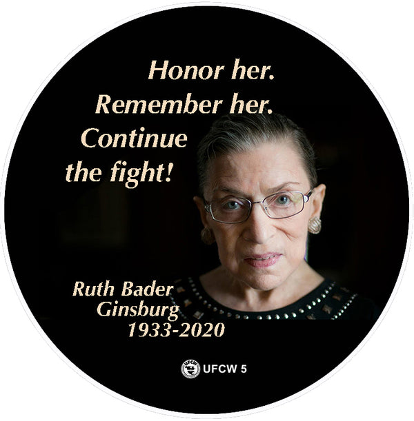 RBG Fight On Pin