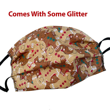 Ginger Bread Glitter Mask,