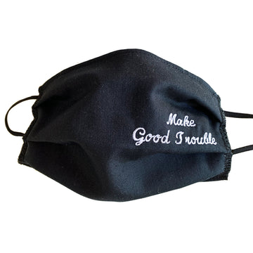 Make Good Trouble Embroidered Mask