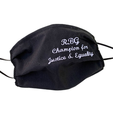 RBG Tribute Embroidered Mask