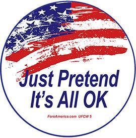 Just Pretend It's All OK Pin