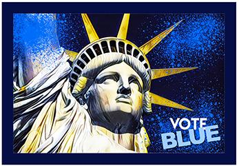 Lady Liberty, Vote Blue Pin