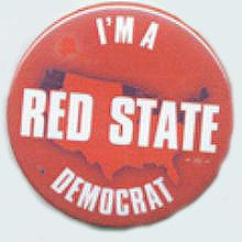 I'm a Red State Democrat Pin